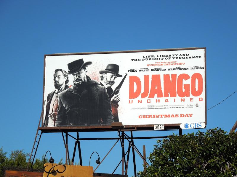 Django Unchained movie billboard