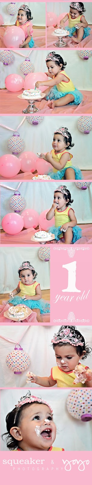 smash cake photography georgetown ontario baby girl
