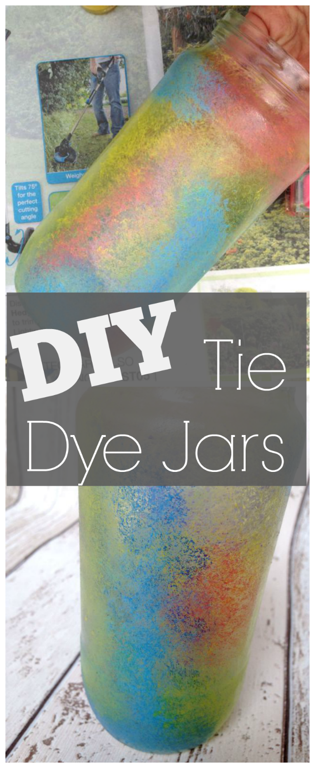DIY Tie Dye Jars - Simple, cheap and quick decorative DIY. Perfect for storing pens, make up brushes etc