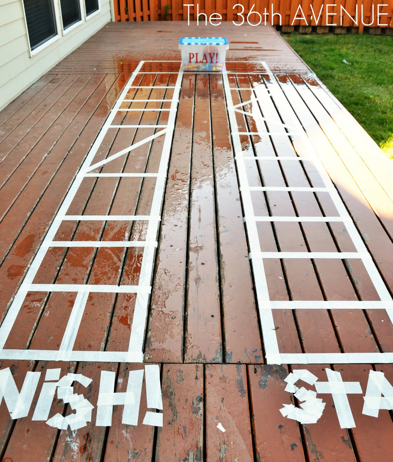 kid activities backyard giant game board the 36th avenue