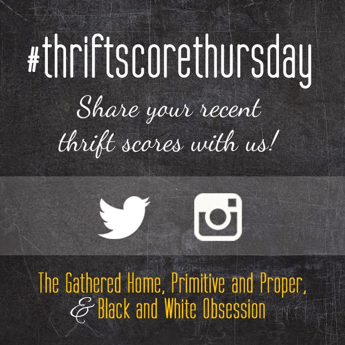 #thriftscorethursday Week 36 | Trisha from Black and White Obsession, Brynne's from The Gathered Home, Cassie from Primitive and Proper, and Guest Poster: Anna from Le Crafteur