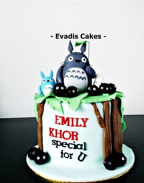 Overall view picture of My Neighbour Totoro Cake