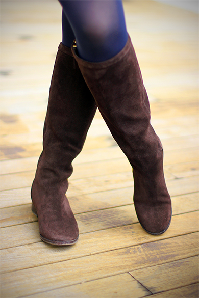 J.Crew dark brown suede riding boots