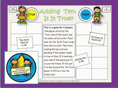 http://www.teachersnotebook.com/product/linda+n/adding-ten-a-matt-and-maddy-math-game