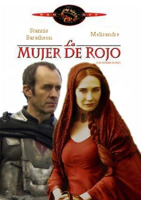 Stannis Baratheon y Melisandre en La mujer de Rojo