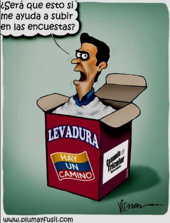 La Caricatura de ViCman) El candidato Herique Capriles.