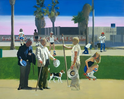 Peter Blake - The meeting or have a nice day, Mr Hockney 1981-3