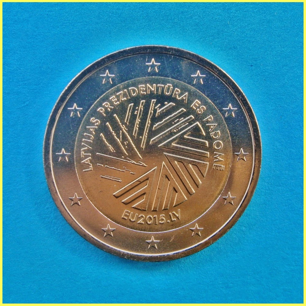 Letonia 2015 Presidencia UE Moneda