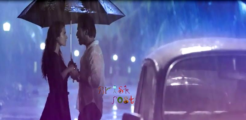 Shahrukh Kajol in Janam Janam  Dilwale song under umbrella