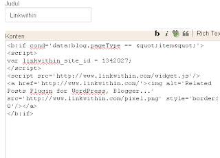 Contoh Script LinkWhitin