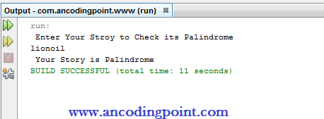 Palindrome String