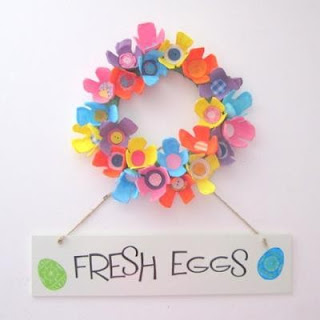 Fanantique diy easter decorating Egg carton flowers ideas