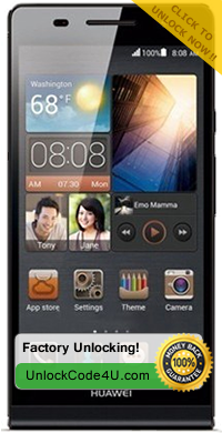 Factory Unlock Code for Huawei Ascend P6