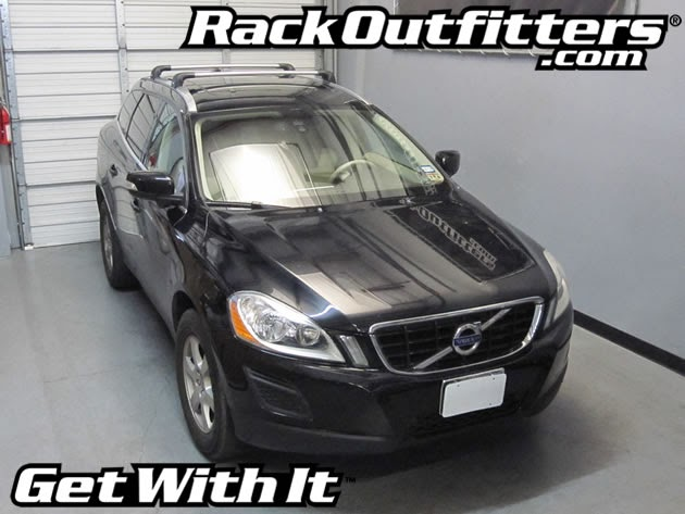 Volvo XC60 Thule SILVER AeroBlade EDGE Base Roof Rack '09-'14* - Rack Outfitters