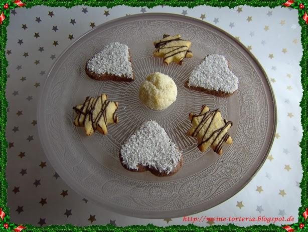 1 teig 2 pl tzchen knuspersterne kokos rum herzen meine torteria - Platzchen dekorieren ...