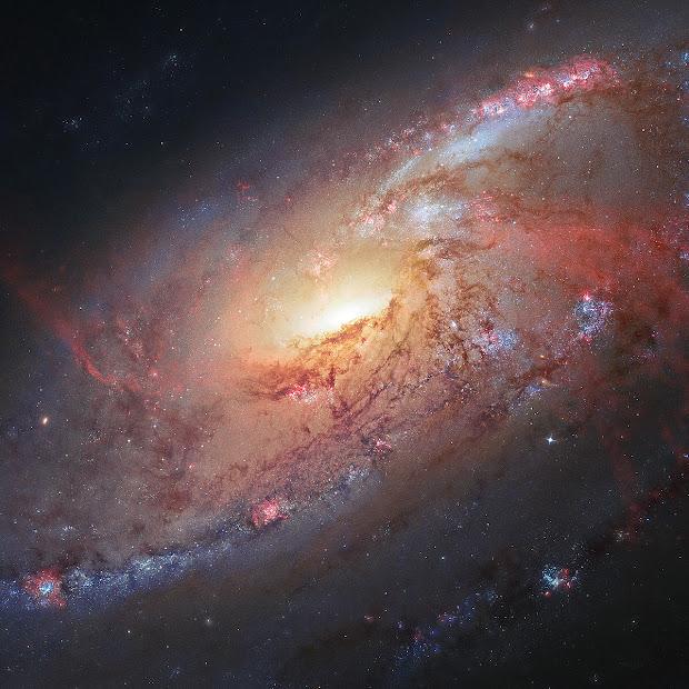 Seyfert Spiral Galaxy M106