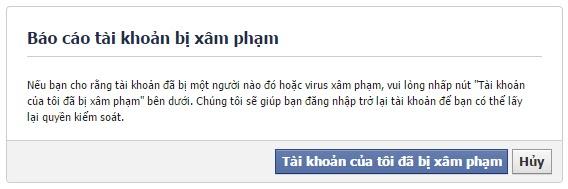 Bao cao Tai Khoan Facebook bi HACK