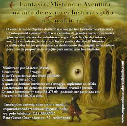 Curso:  Fantasia, Mistério e Aventura na arte de escrever histórias para  jovens leitores