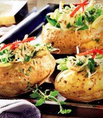 Patatas Rellenas de Vegetales