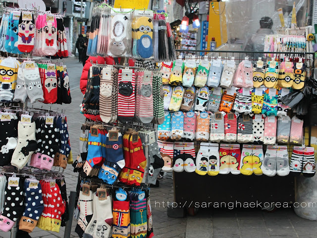 Socks with cute designs in Korea