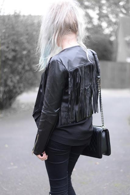 Sammi Jackson - Lightbox Fringed Jacket + Primark Ripped Jeans