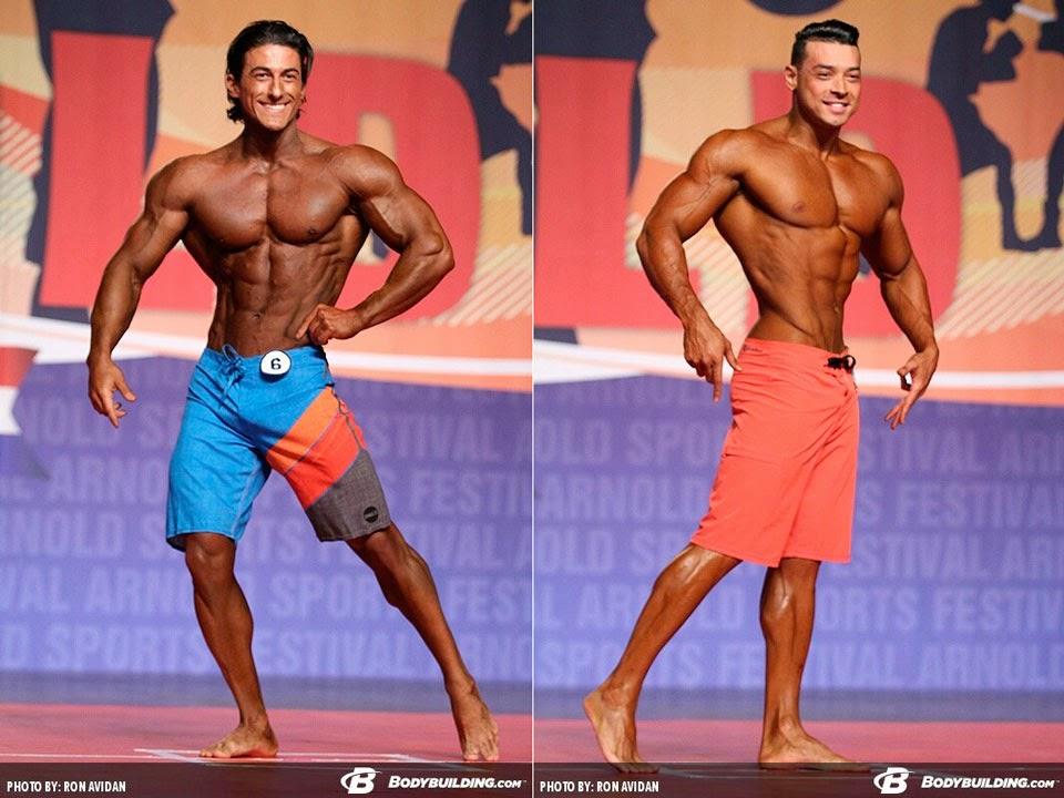 Sadik Hadzovic e Felipe Franco no Arnold Classic se apresentam no palco do Arnold Classic 2015. Foto: Ron Avidan