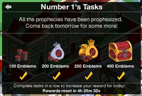 Number 1's Tasks