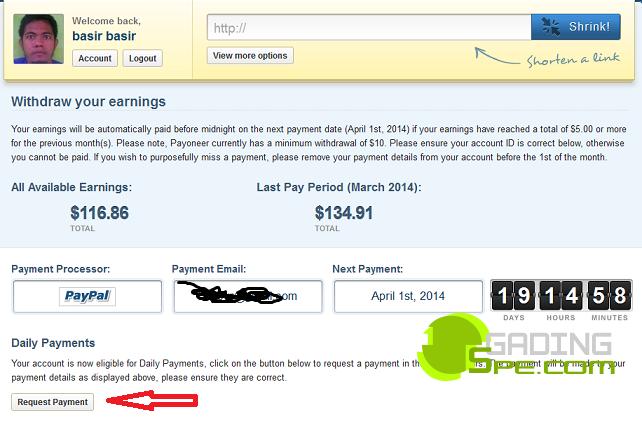 cara menarik uang di adf.ly dan adfoc.us (withdraw)
