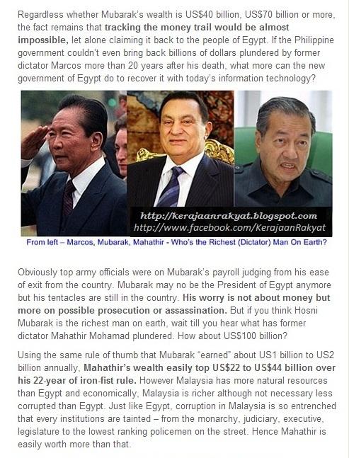 Tiga Diktator Dunia: Marcos, Mubarak, Mahathir