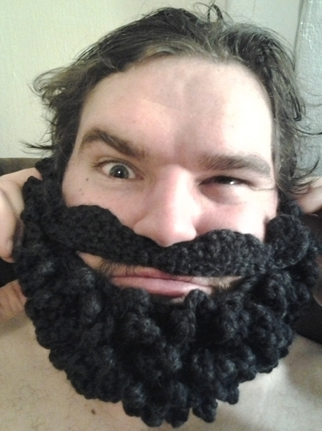 Free Crochet Patterns Hats With Beards : [Insert Clever Name Here]: Beard for the beanie!