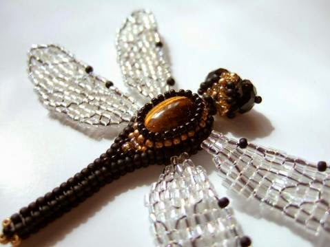 плетение из бисера стрекозы