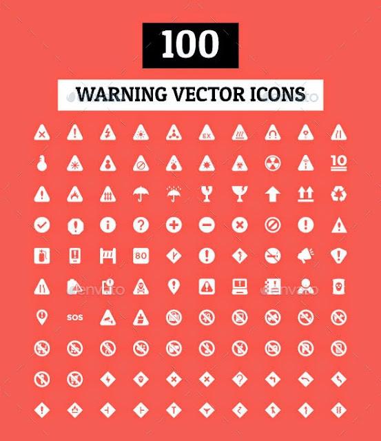 Warning Vectors icons