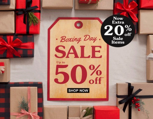 Roots Boxing Day Sale Extra 20% Off Sale Items Up To 50% Off