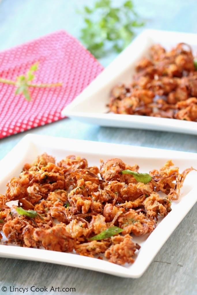 Onion Thool Pakoras