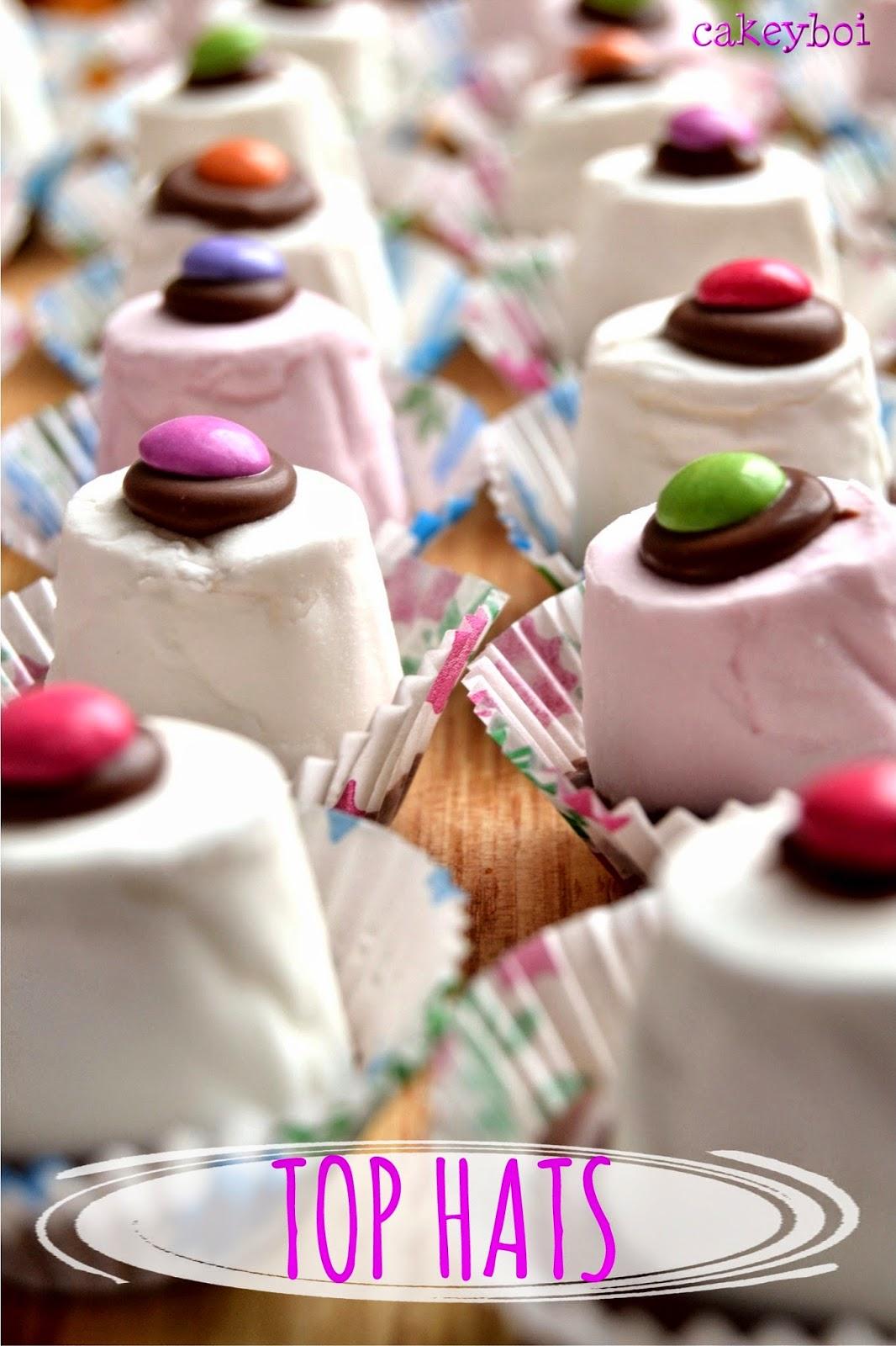 marshmallow, chocolate, smarties