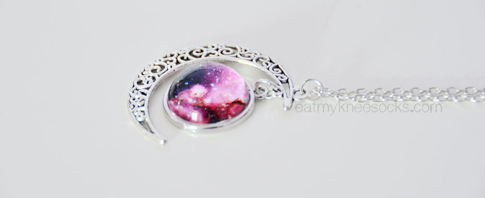 The moon pendant starry sky necklace from Born Pretty Store.