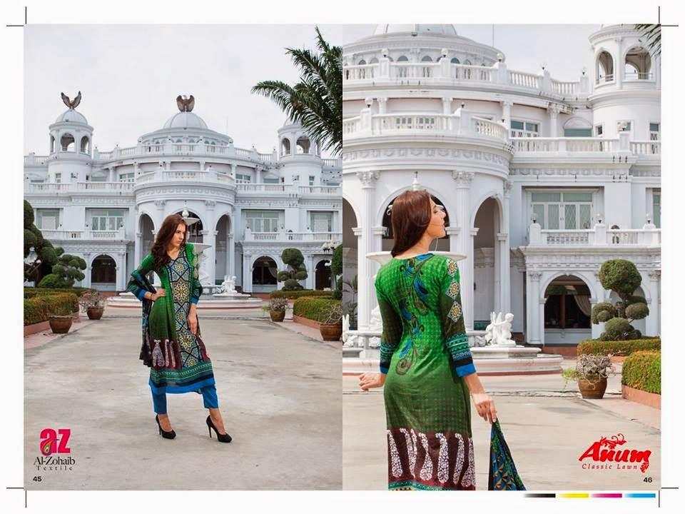 AnumClassicLawnVOL 2ByAl ZohaibTextile 14  - Anum Classic Lawn 2014 Vol-2 By Al-Zohaib Textile