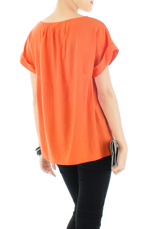 Tangerine Let's Chill Blouse