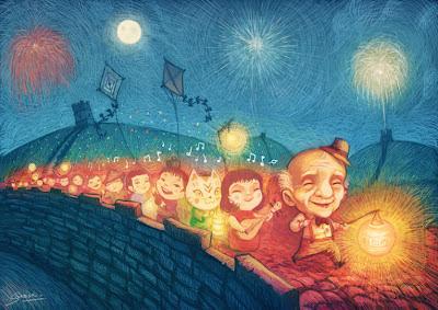 Pereira Samuel, Pio, Jocelyne Marque, album, images, illustration, enfants, jeunesse, chine, muraille