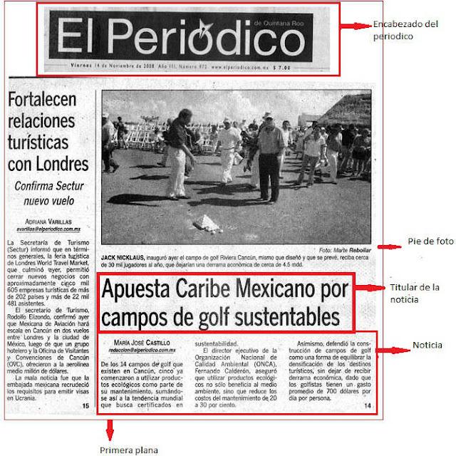 Partes Del Periodico Cuantas Notas Conforman El Sumario