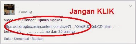 Link Hacker di Facebook