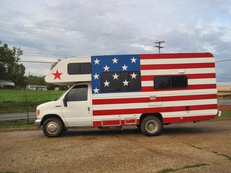 patriotic camper