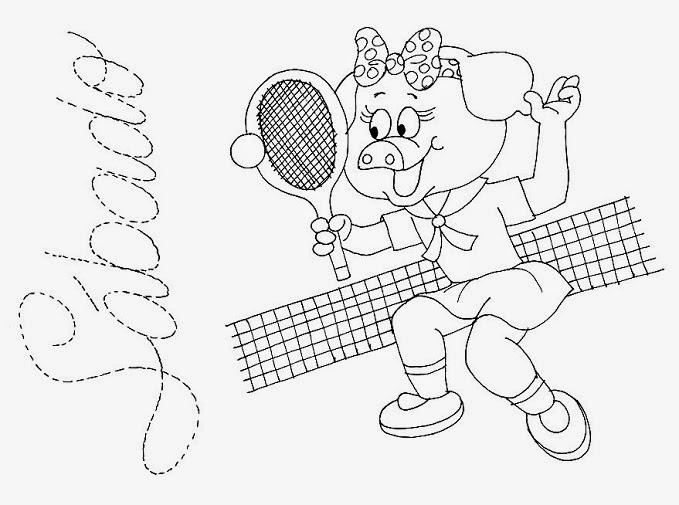 desenho da semaninha da porquinha sabado