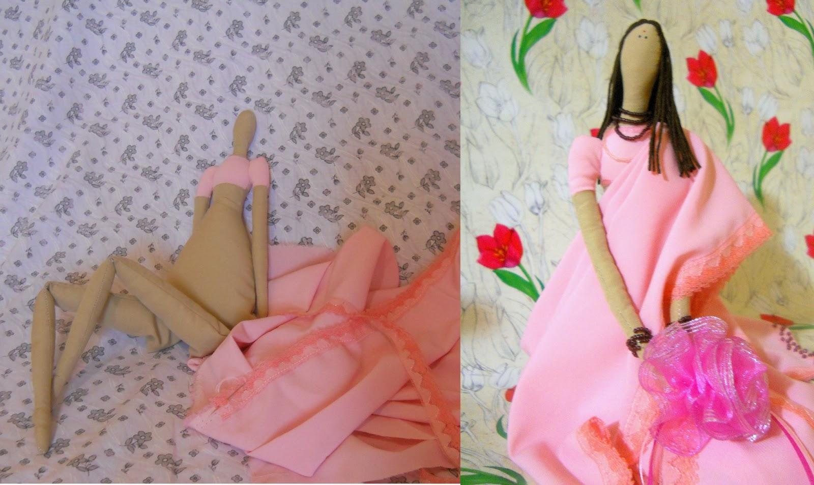 Текстильная кукла, Тильда в сари
