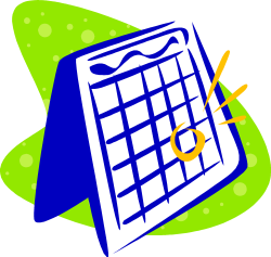image d'un calendrier