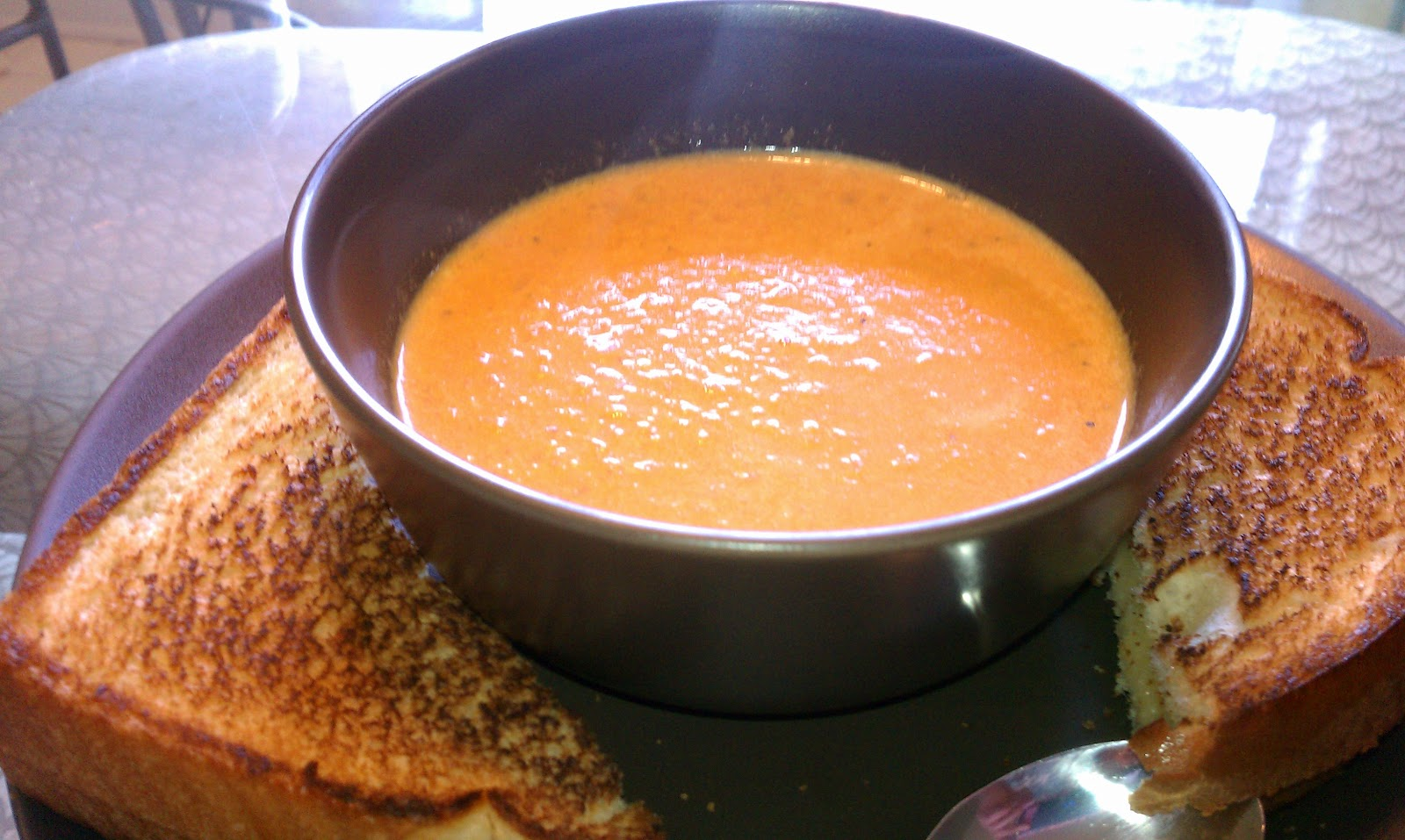 The Maternal FoodieCreamy tomato bisque with a kick