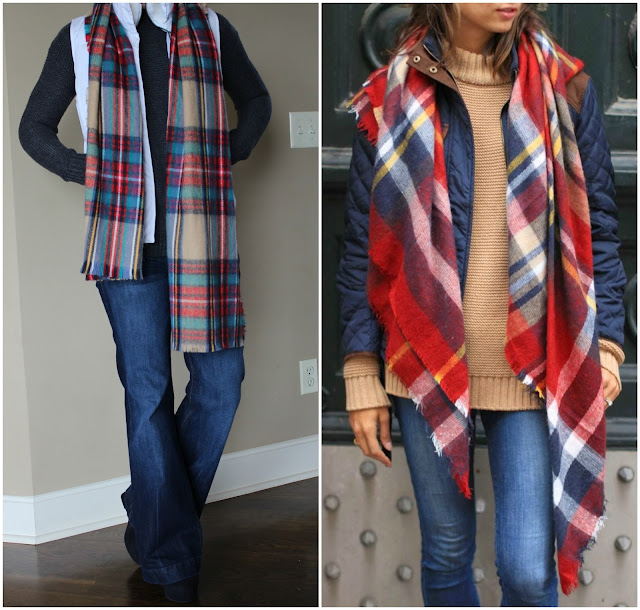 How to wear a scarf with a puffer coat or vest, winter sweater, outfit idea for winter layers, the fox and she