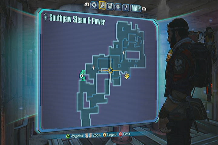 Southpaw Steam Power Vault Symbols Borderlands 2