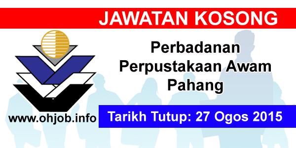 Jawatan Kerja Kosong Perbadanan Perpustakaan Awam Pahang logo www.ohjob.info ogos 2015