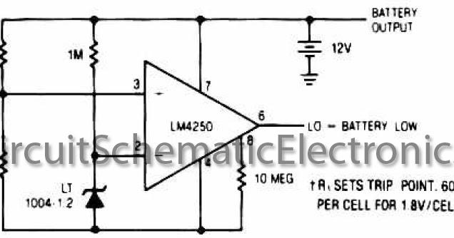 low battery detector circuit